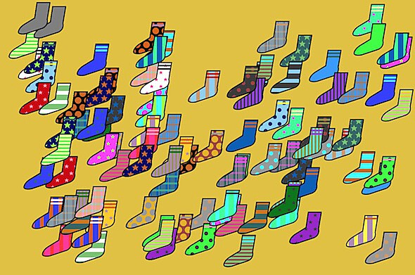 Yes, there is a game about sorting socks.