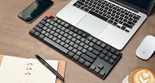 My current keyboard (as of April 2021), the low-profile, tenkeyless Keychron K1 is close to my favorite input device. Yes, I got the RGB version. &ampmdash; [Amazon referral link](https://amzn.to/3tRatjU).