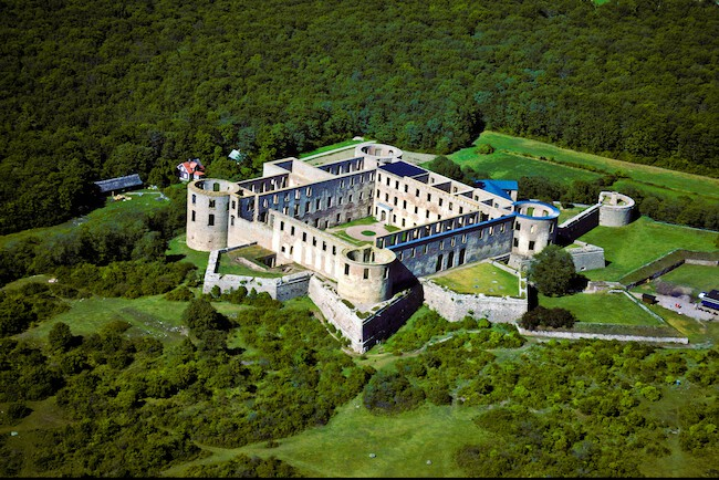Aearial view of Borgholm Castle, which could have been the model for the symbol