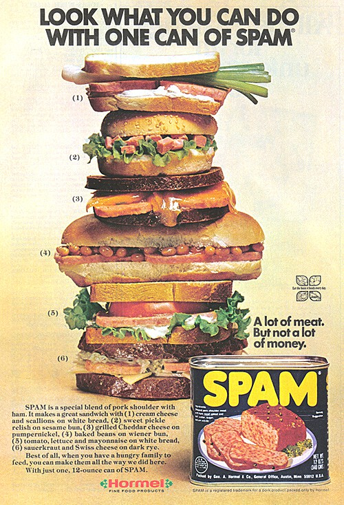 Vintage Ad: Look What You Can Do With One Can of Spam
